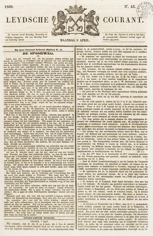 Leydse Courant 1860-04-09