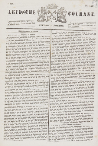 Leydse Courant 1866-11-14