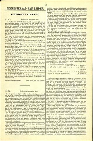 Handelingen van de Raad 1928-08-30