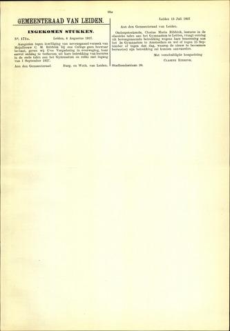 Handelingen van de Raad 1927-08-04