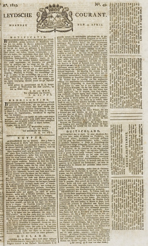 Leydse Courant 1825-04-25
