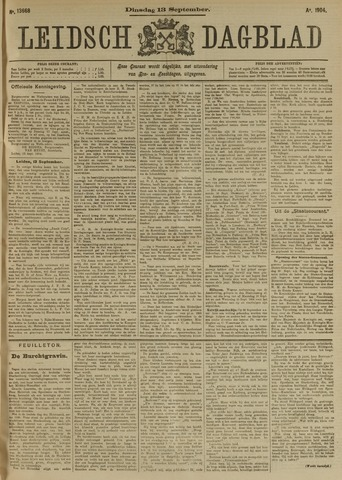 Leidsch Dagblad 1904-09-13