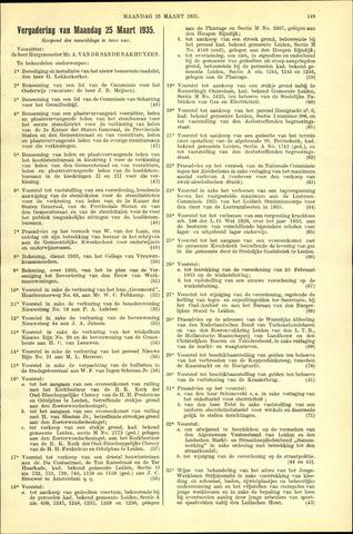 Handelingen van de Raad 1935-03-25