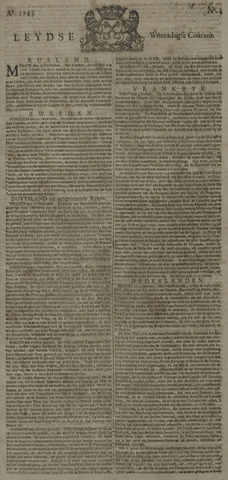 Leydse Courant 1743-01-09
