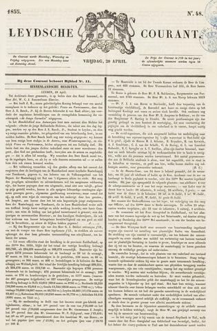 Leydse Courant 1855-04-20