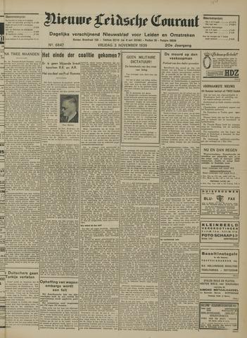 Nieuwe Leidsche Courant 1939-11-03