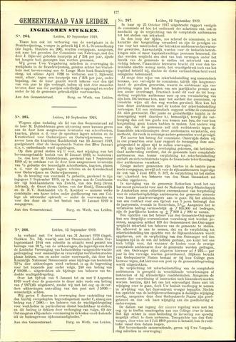 Handelingen van de Raad 1919-09-10
