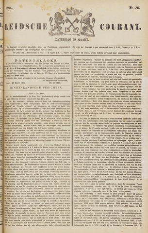 Leydse Courant 1884-03-29