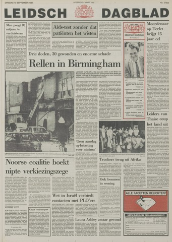 Leidsch Dagblad 1985-09-10