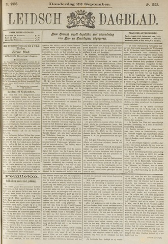 Leidsch Dagblad 1892-09-22