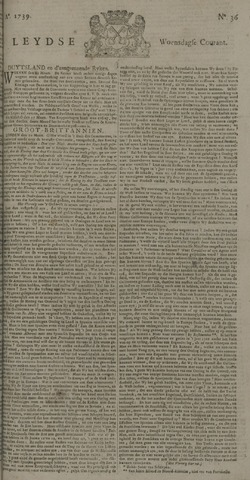 Leydse Courant 1739-03-25