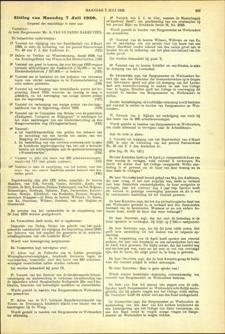 Handelingen van de Raad 1930-07-07