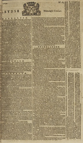 Leydse Courant 1754-05-27