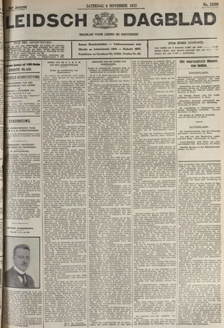 Leidsch Dagblad 1933-11-04