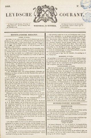 Leydse Courant 1849-10-31