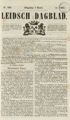 Leidsch Dagblad 1863-03-03