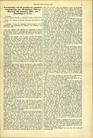 Handelingen van de Raad 1931-01-20