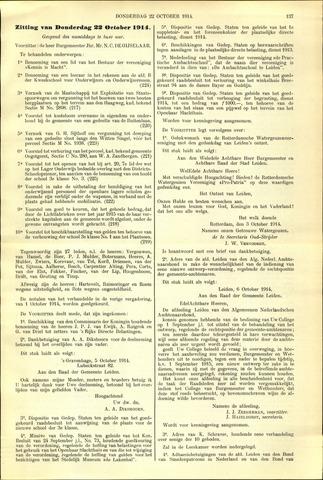 Handelingen van de Raad 1914-10-22