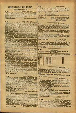 Handelingen van de Raad 1895-04-06