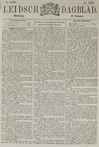 Leidsch Dagblad 1878-02-27