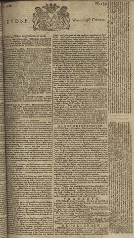 Leydse Courant 1760-11-19