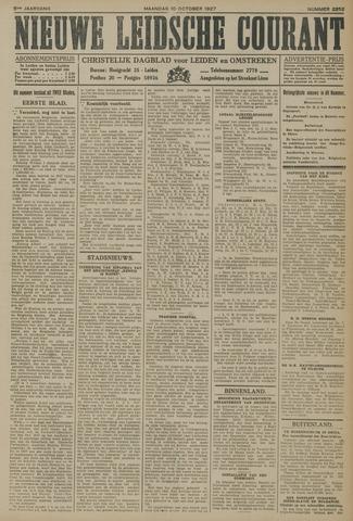 Nieuwe Leidsche Courant 1927-10-10
