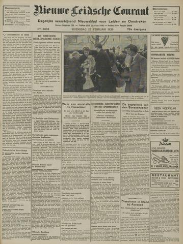 Nieuwe Leidsche Courant 1939-02-22
