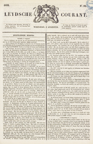 Leydse Courant 1853-08-03