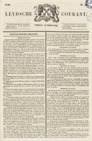 Leydse Courant 1846-02-27
