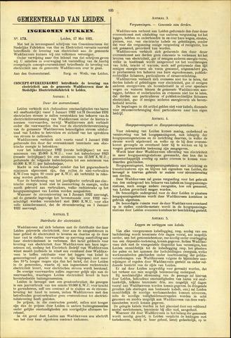 Handelingen van de Raad 1921-05-27