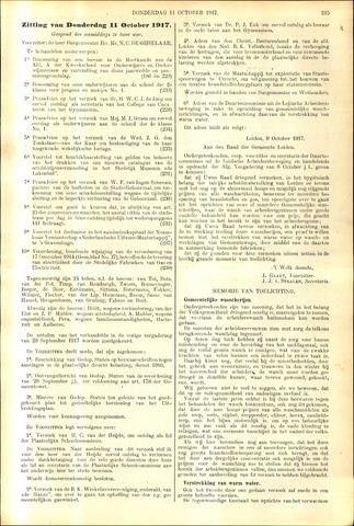 Handelingen van de Raad 1917-10-11
