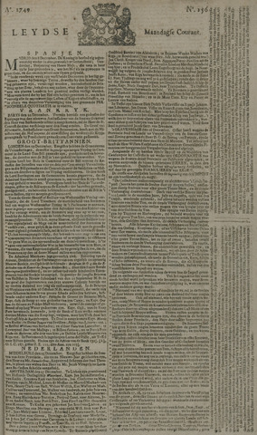 Leydse Courant 1749-12-29