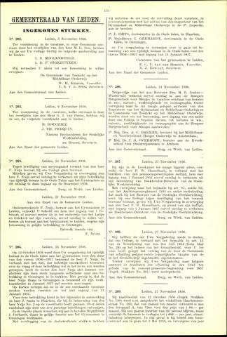 Handelingen van de Raad 1936-11-03