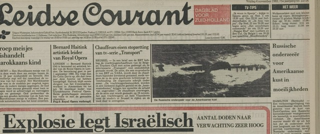 Leidse Courant 1983-11-04