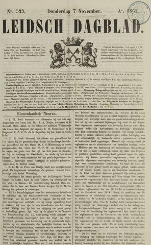 Leidsch Dagblad 1861-11-07