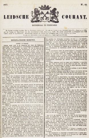 Leydse Courant 1877-02-22