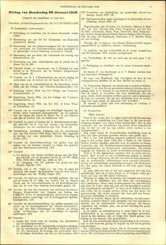 Handelingen van de Raad 1916-01-20