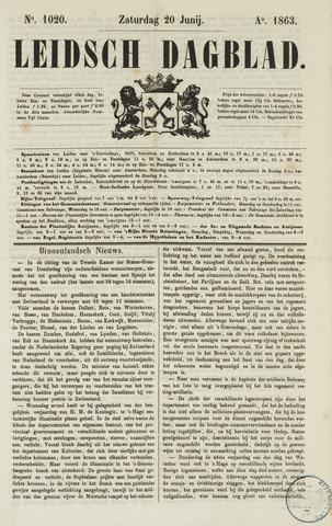 Leidsch Dagblad 1863-06-20