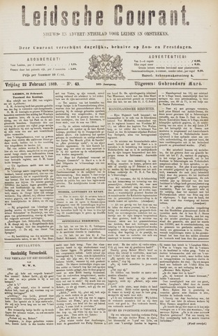 Leydse Courant 1889-02-22