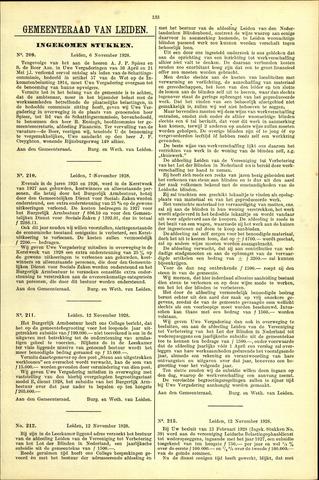 Handelingen van de Raad 1928-11-06