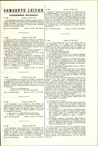 Handelingen van de Raad 1947-05-23
