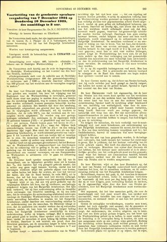 Handelingen van de Raad 1925-12-10