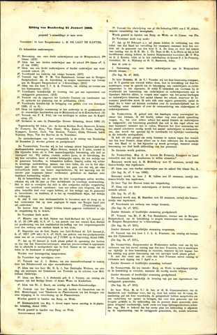 Handelingen van de Raad 1886-01-21