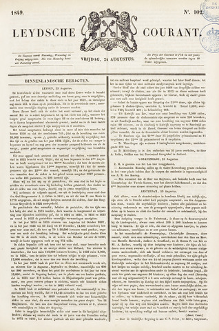 Leydse Courant 1849-08-24