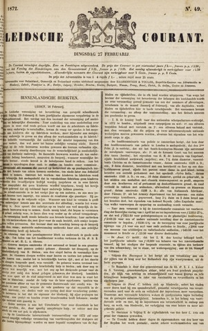 Leydse Courant 1872-02-27
