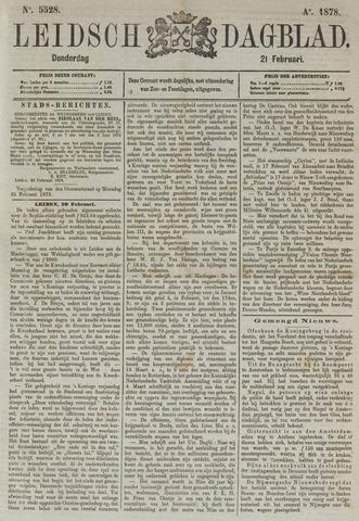 Leidsch Dagblad 1878-02-21