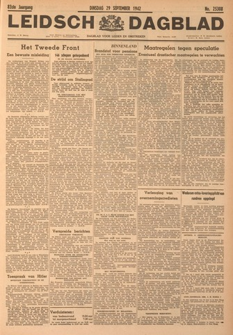 Leidsch Dagblad 1942-09-29