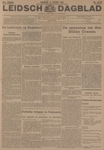 Leidsch Dagblad 1940-10-14