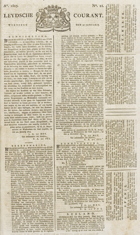 Leydse Courant 1825-01-26