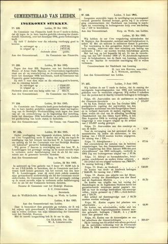 Handelingen van de Raad 1905-05-29